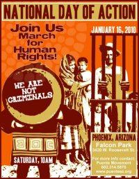 Day of Action Against Joe Arpaio March Poster