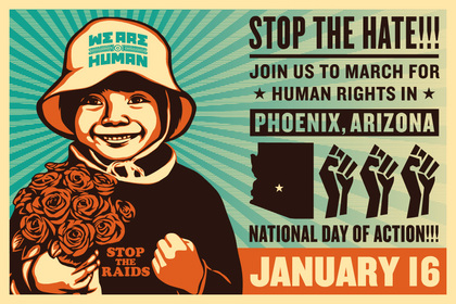 Stop the Hate March Poster