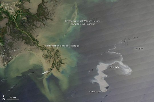 Gulf Coast Oil Spill Satellite View