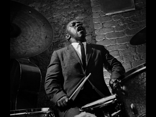 Muslim and legendary jazz drummer Art Blakey often wore the traditional suit and tie of his culture.