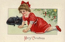 Other Girl in Red with Cat