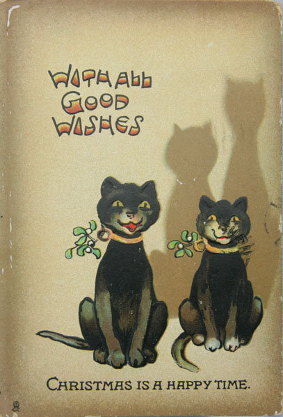 Vintage Kitty Christmas Cards The Czech