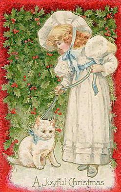 White Cat & Girl