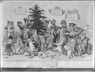 Cats Decorating 1906