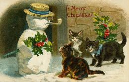 Cats & Snowman
